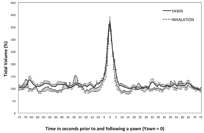 a study on yawning Lastly, an inverse seasonal pattern emerged between the two study locations ie, whereas in tucson there was a high frequency of reported yawning in winter, and a low frequency of reported yawning in summer, in vienna there was a high frequency of reported yawning in summer, and a low frequency of reported yawning in winter.
