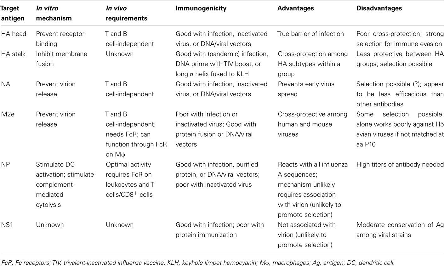 Influenza Virus Antibodies Against Influenza Virus