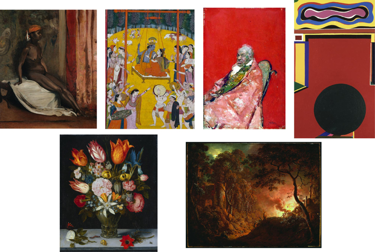 Examples of artworks used in the experiment