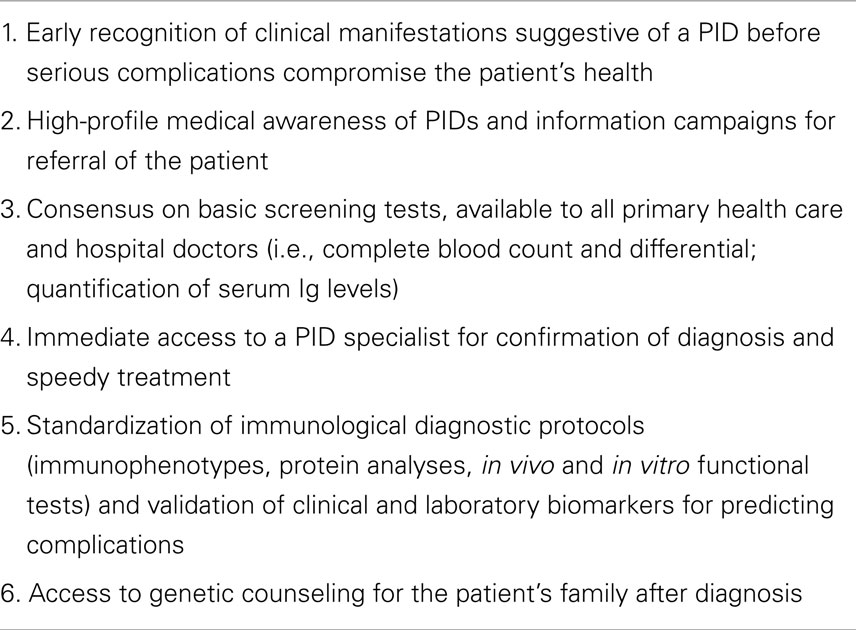 frontiers primary immune deficiencies principles of care   org
