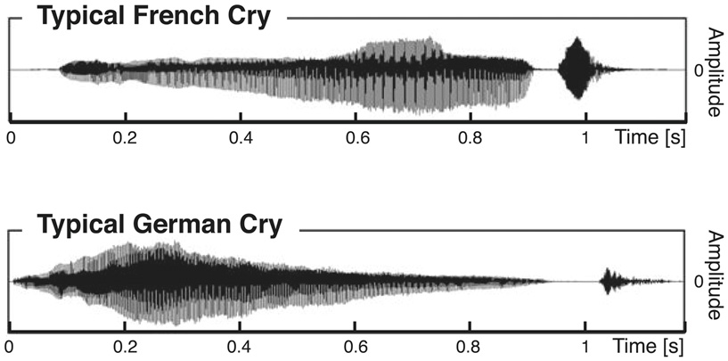 Figure 1 - The sound patterns of babies' cries.