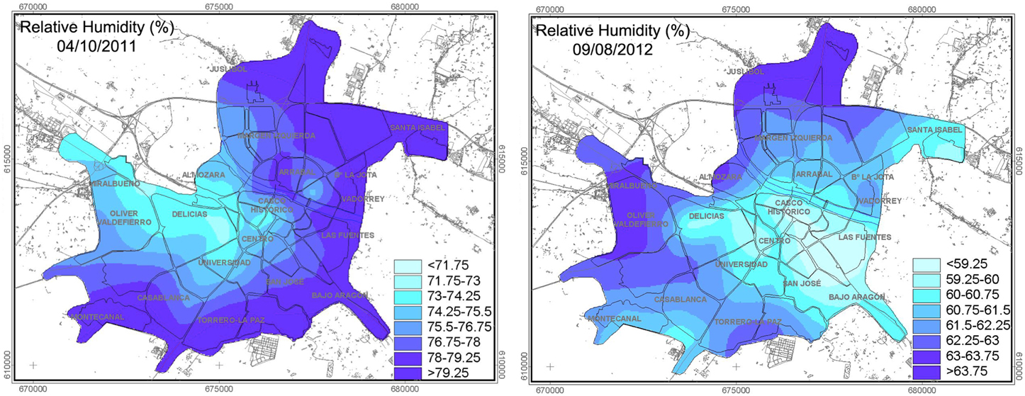 Frontiers Influence Of Different Factors On Relative Air - Humidity map