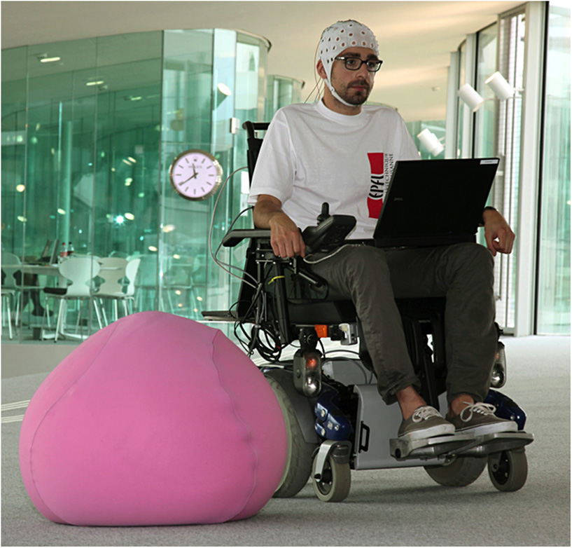 Figure 2 - Brain-controlled wheelchair.