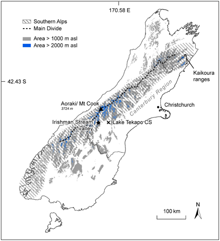 Map Of Southern New Zealand.Frontiers Estimating Permafrost Distribution In The Maritime