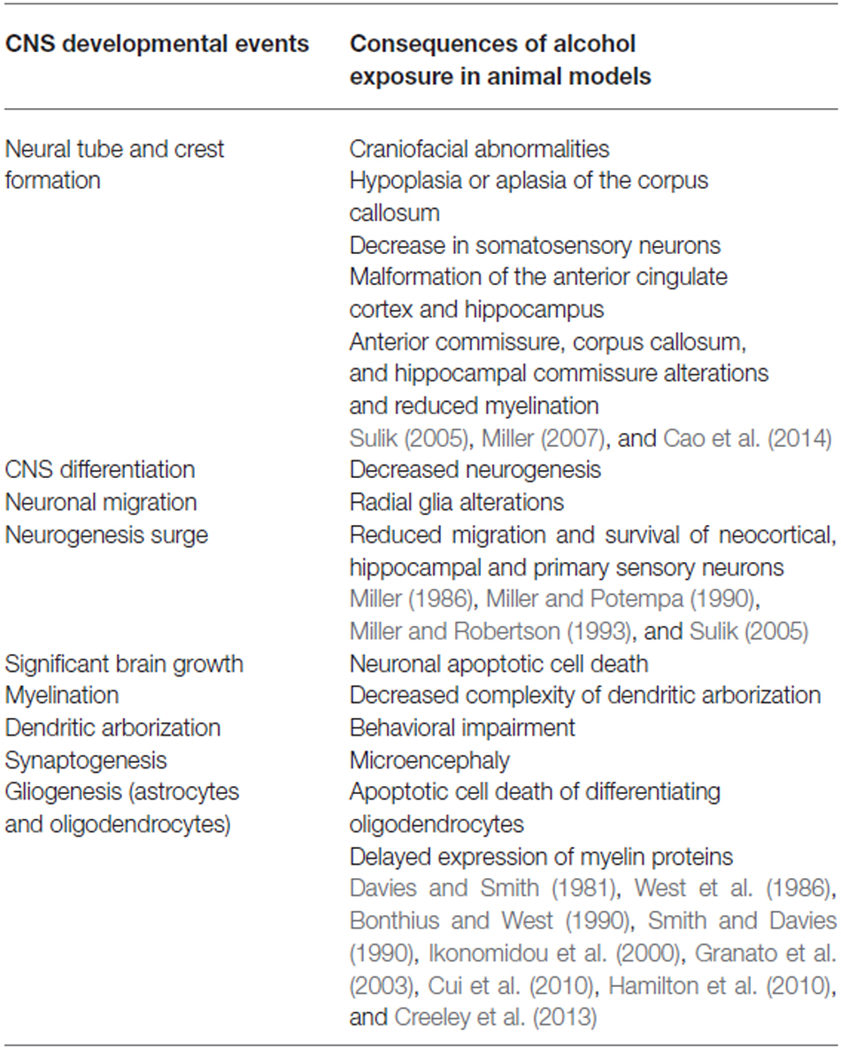 Frontiers | Fetal Alcohol Spectrum Disorders: An Overview