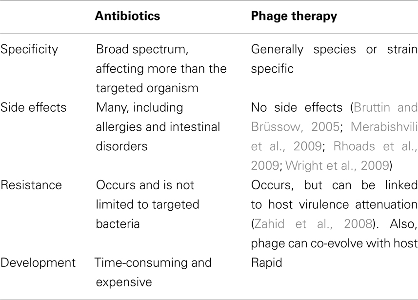 Features from bacteriophages