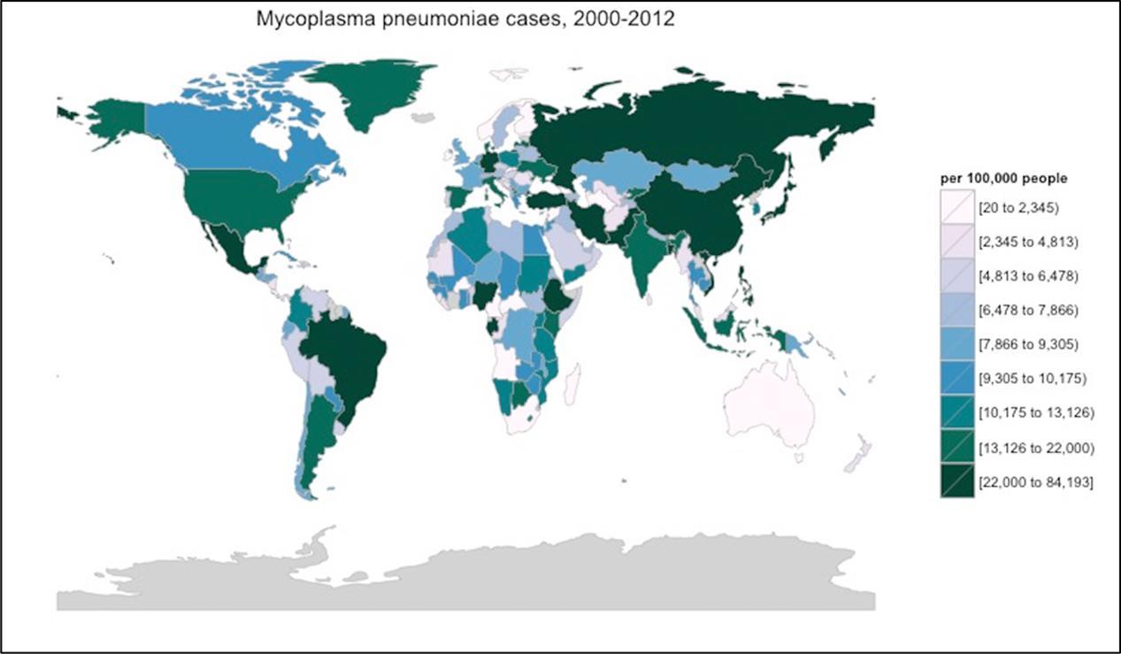 Frontiers A Compendium For Mycoplasma Pneumoniae Microbiology - Pneumonia map us 201