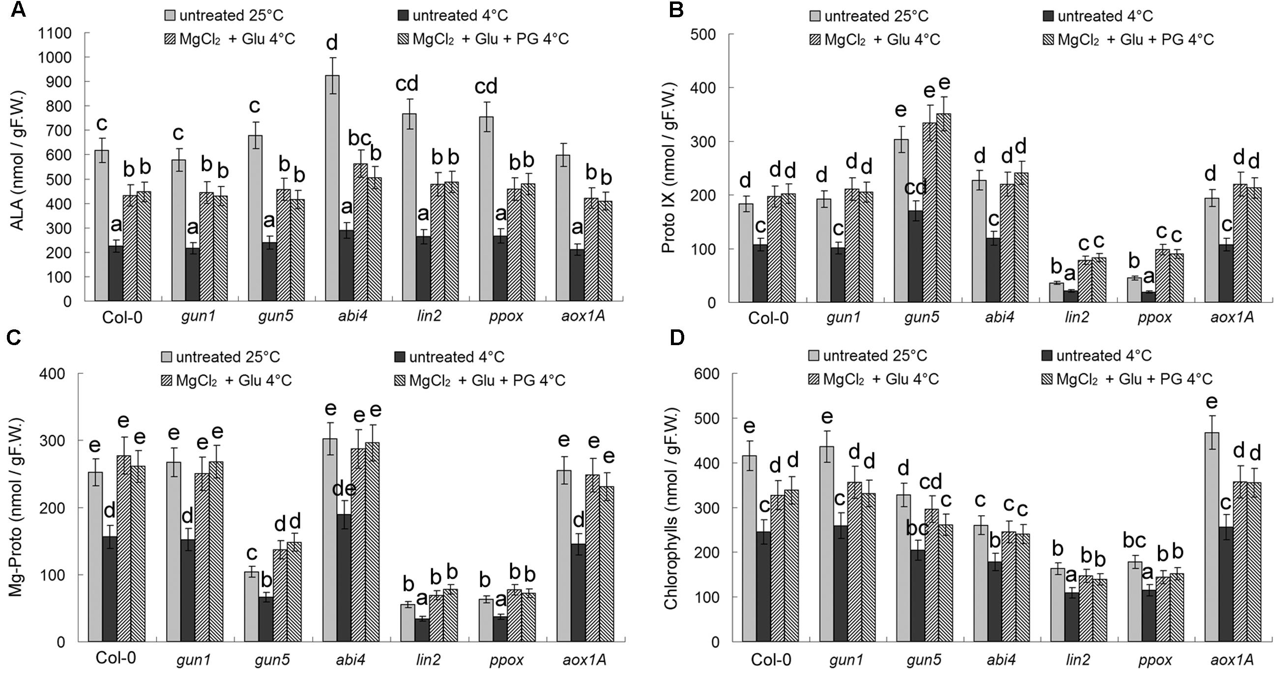 frontiers mg protoporphyrin ix signals enhance plant s tolerance