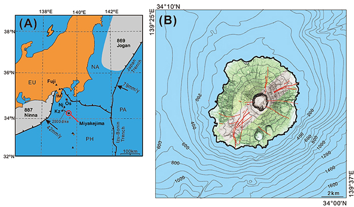 Frontiers Orientation of the Eruption Fissures Controlled by a