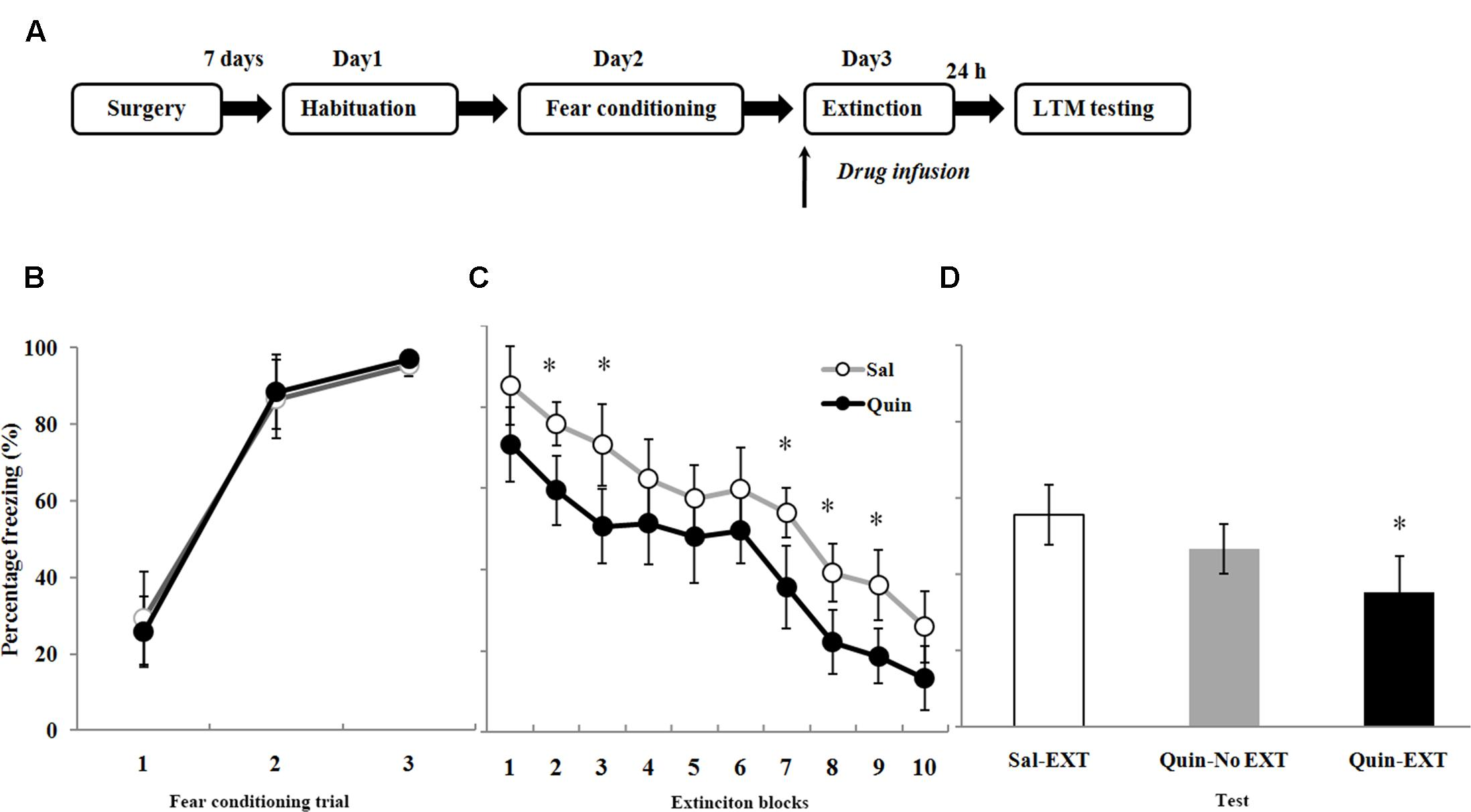 facilitation of conditioned fear extinction by Facilitation of conditioned fear extinction by d-cycloserine is mediated by mitogen-activated protein kinase and phosphatidylinositol 3-kinase cascades and requires de novo protein synthesis in basolateral nucleus of amygdala.