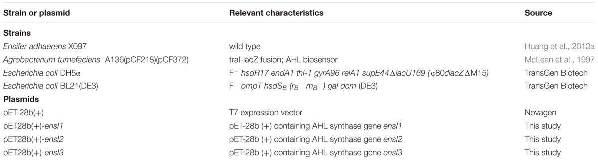 Frontiers Hypersensitive Response Of Plasmid Encoded Ahl Synthase