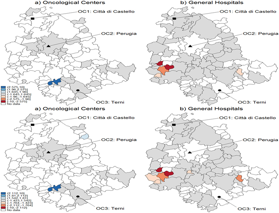 Frontiers | Predictive Assessment of Cancer Center Catchment Area