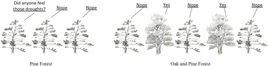 Figure 2 - Pine trees mostly did not respond to drought, but oaks did (see also Figure 3).