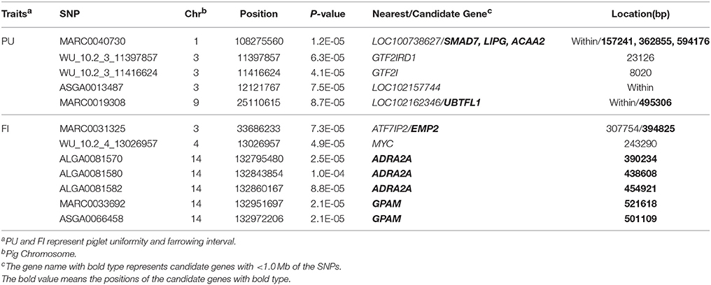Frontiers | Genome-Wide Association Study of Piglet