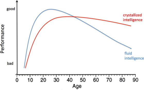 Figure 1 - Cognitive changes during life.