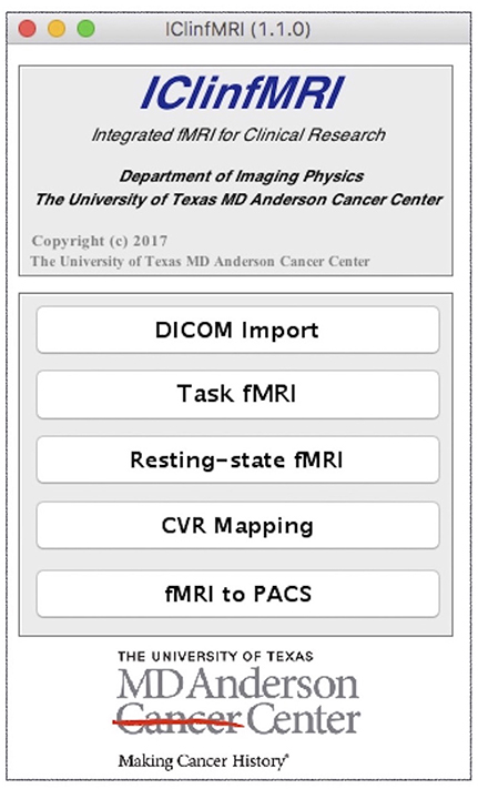 Frontiers | IClinfMRI Software for Integrating Functional