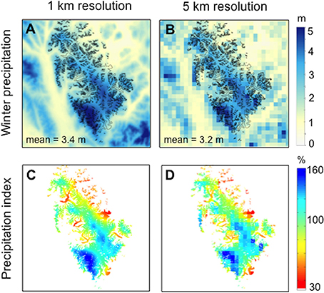 Frontiers | Modeling Winter Precipitation Over the Juneau Icefield