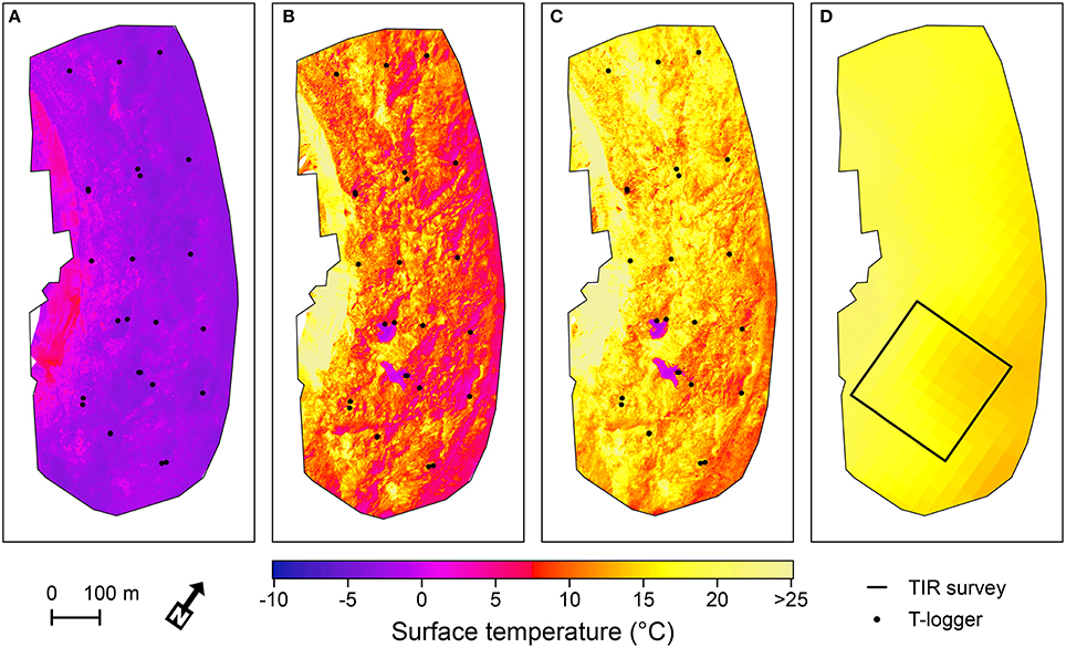 Frontiers | Mapping Surface Temperatures on a Debris-Covered