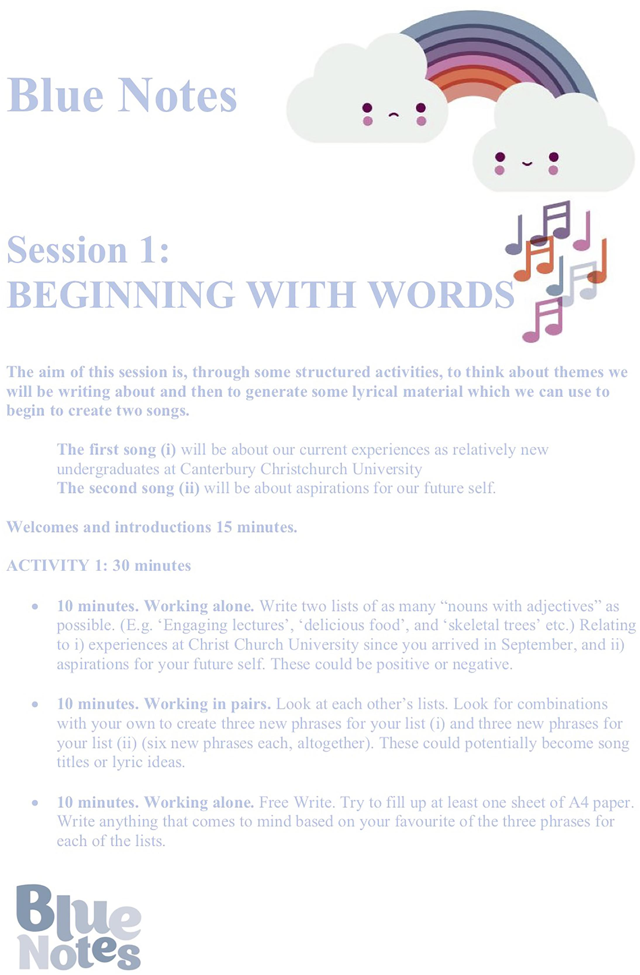 Frontiers | Blue Notes: Using Songwriting to Improve Student Mental