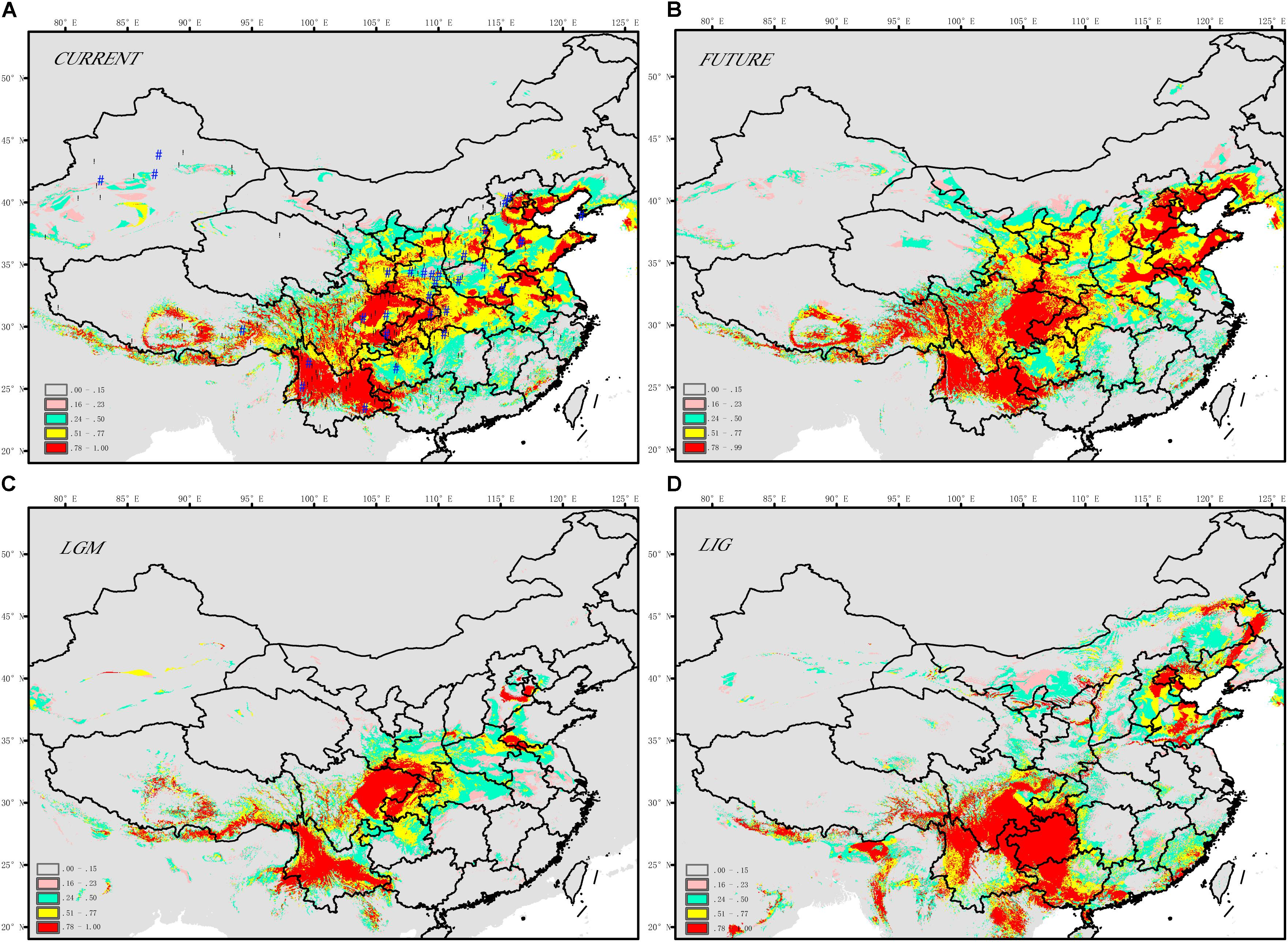 Frontiers   The Phytogeographic History of Common Walnut in China