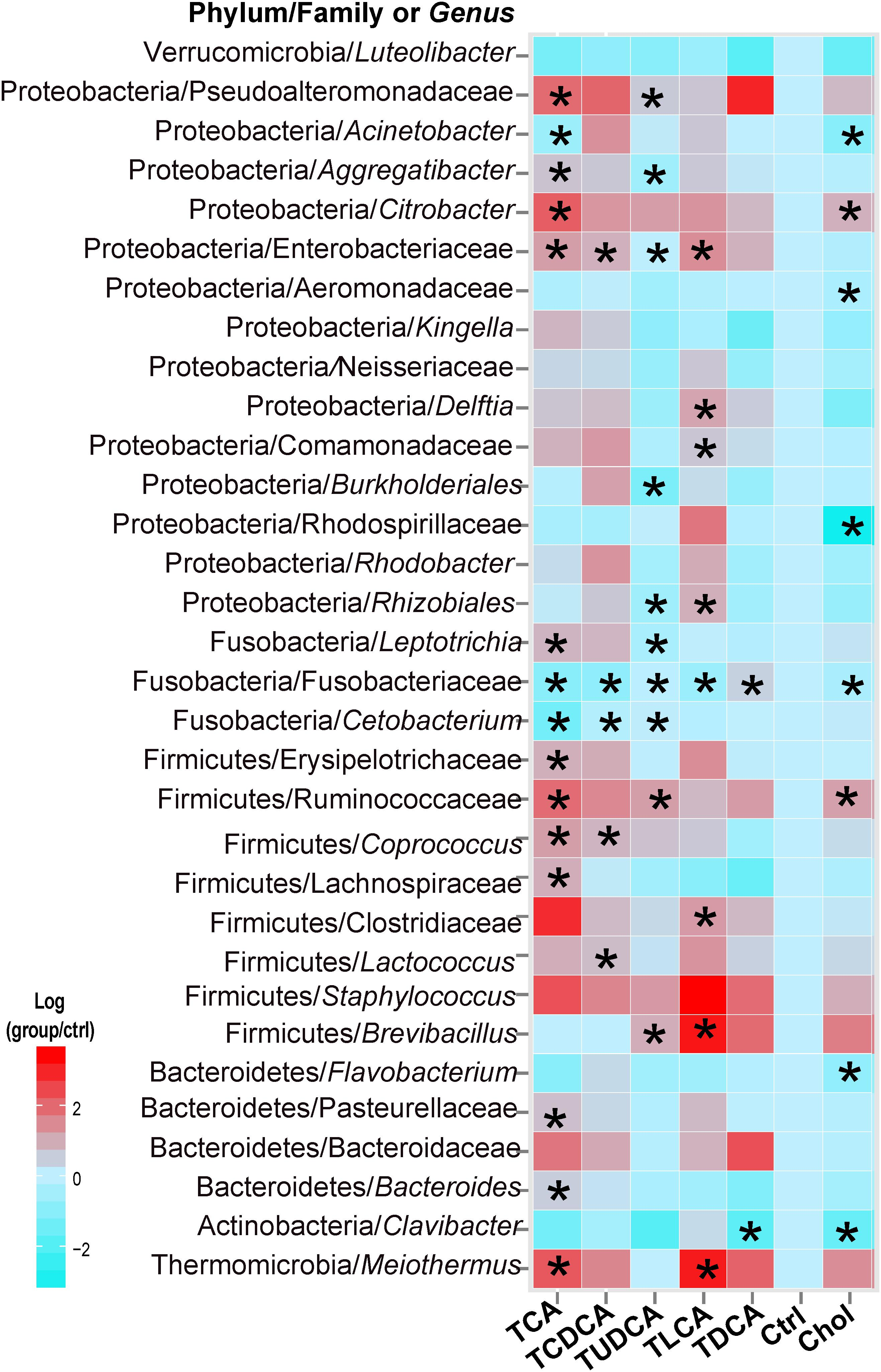Frontiers   Dietary Bile Salt Types Influence the Composition of