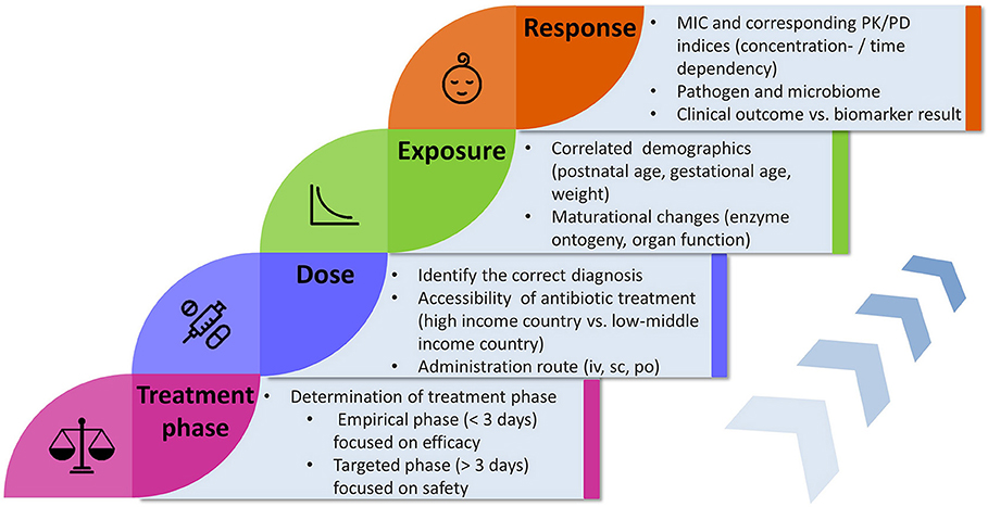 Exposure To Antimicrobials During >> Frontiers Key Components For Antibiotic Dose Optimization Of