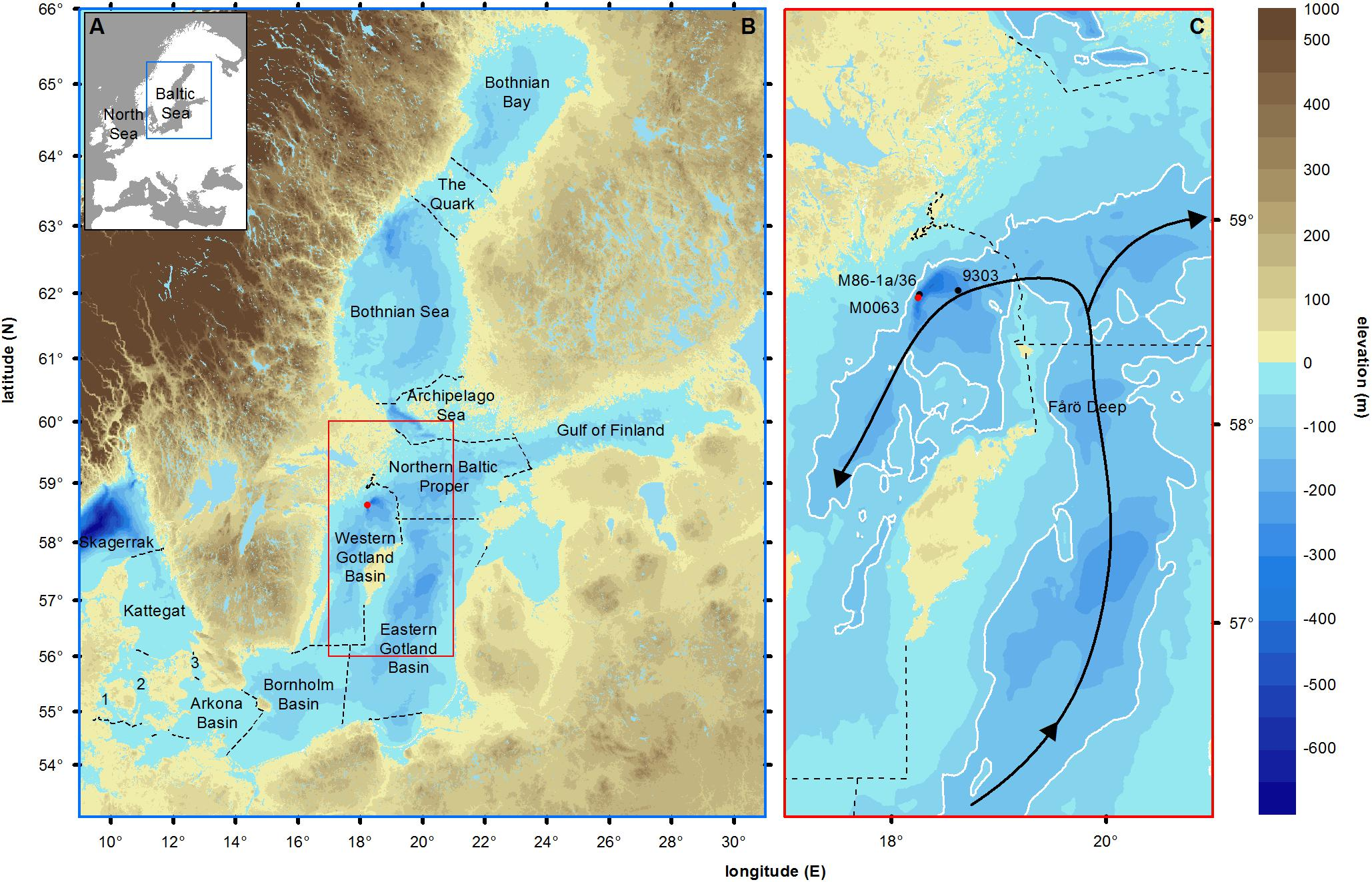 Frontiers Middle To Late Holocene Variations In Salinity