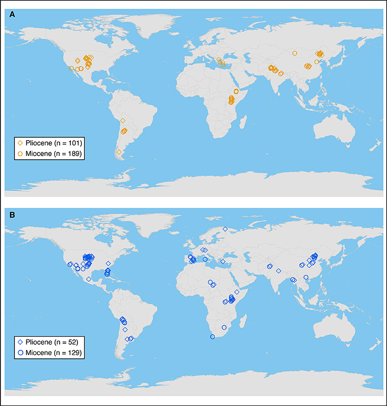 Miocene World Map.Frontiers Climatic Controls On C4 Grassland Distributions During