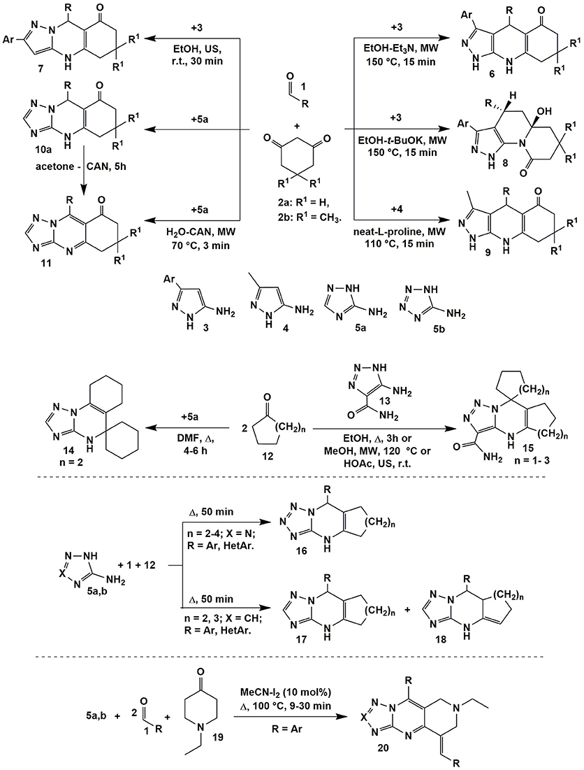 Frontiers | Aminoazole-Based Diversity-Oriented Synthesis of