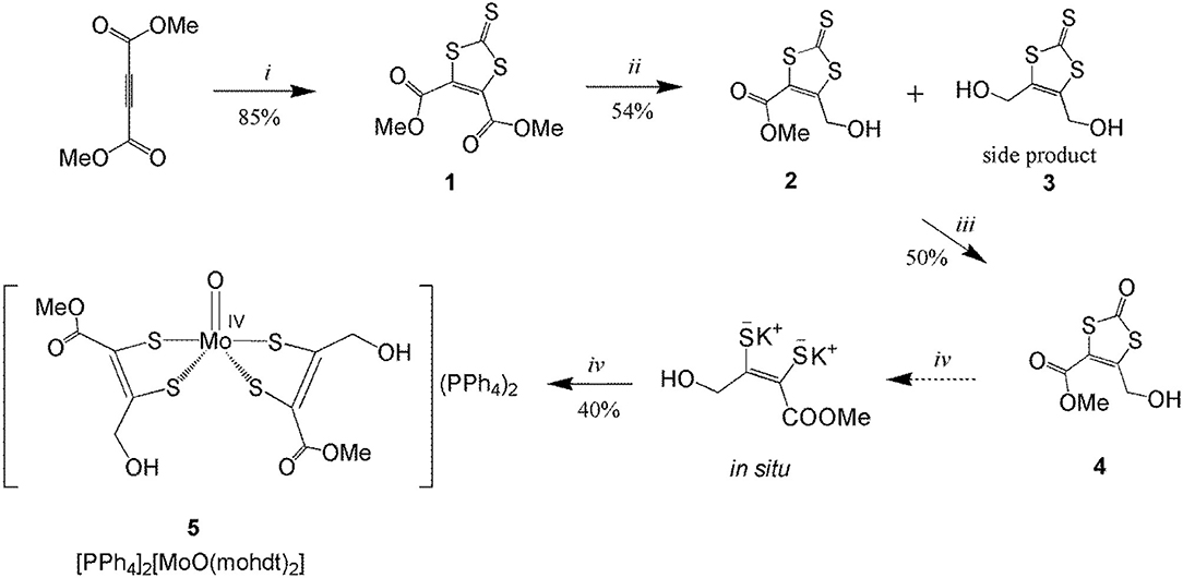 Frontiers | An Asymmetrically Substituted Aliphatic Bis-Dithiolene