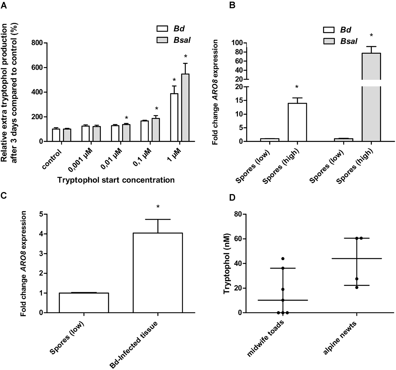frontiers growth regulation in amphibian pathogenic chytrid fungi rh frontiersin org