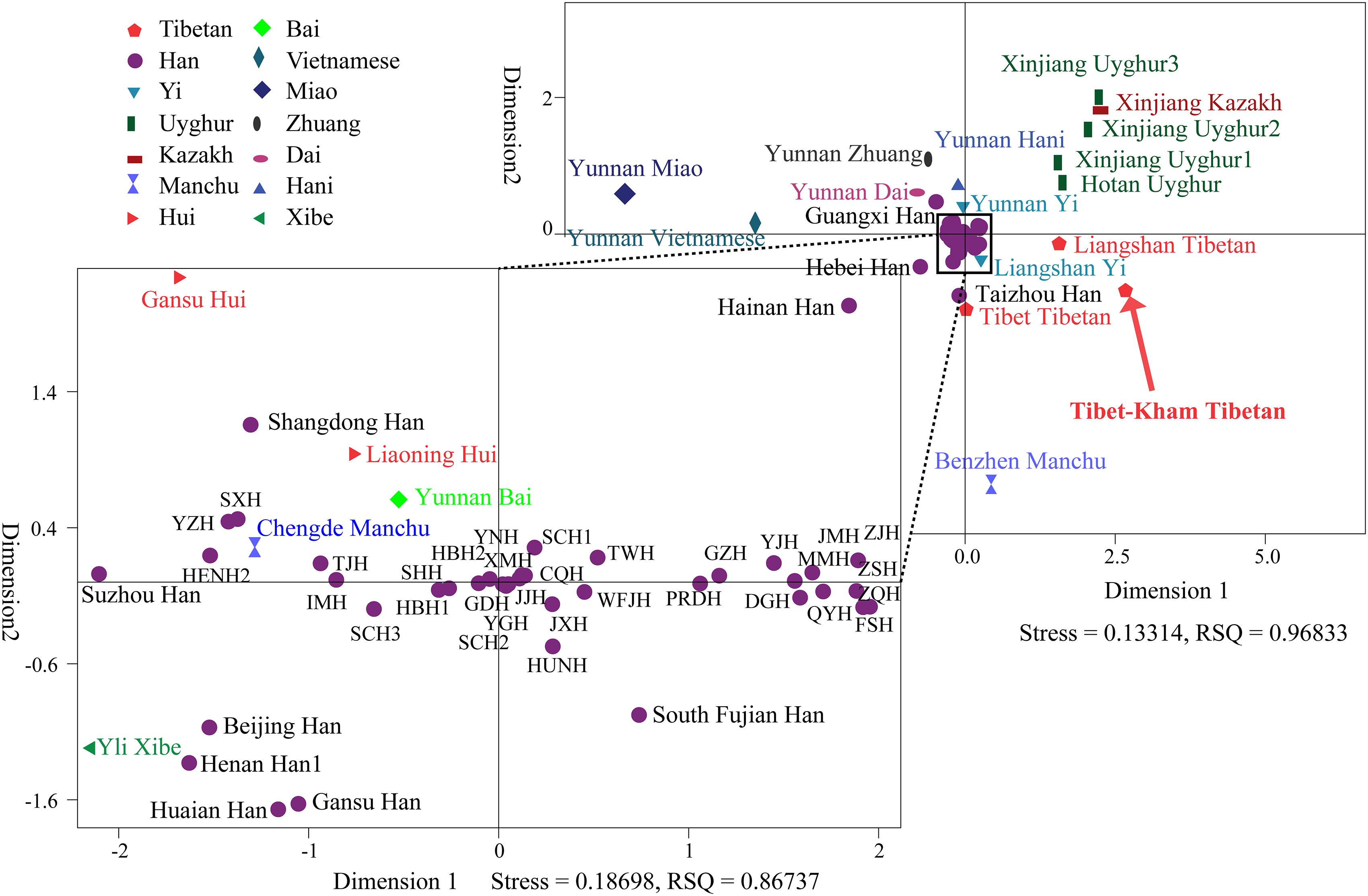 Frontiers | Population Genetic Diversity and Phylogenetic