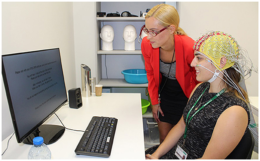 Figure 3 - This girl is having her brain activity measured by EEG.