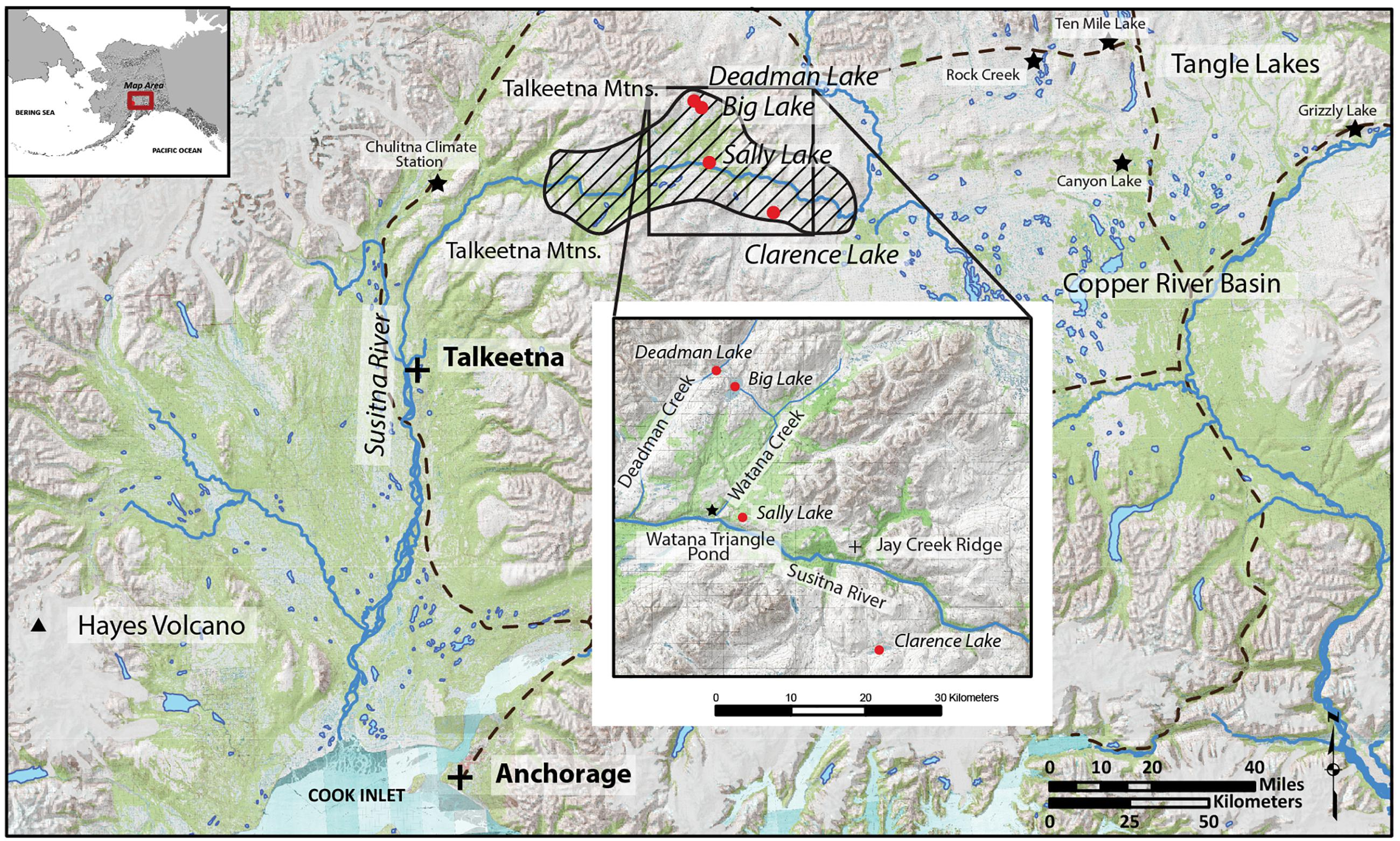 Frontiers | Late-Glacial Paleoecology of the Middle Susitna Valley