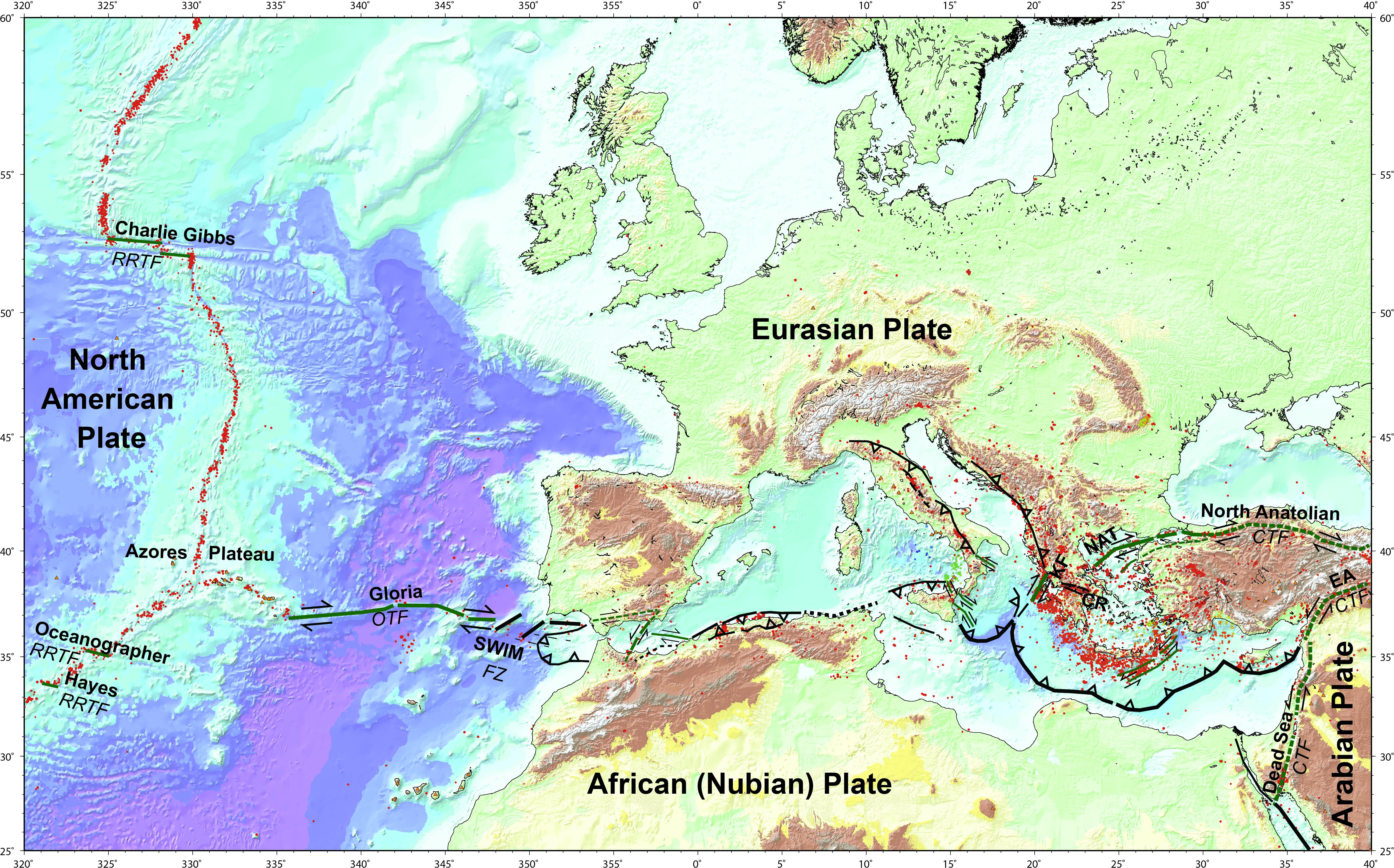 Transform Faults and Fracture Zones