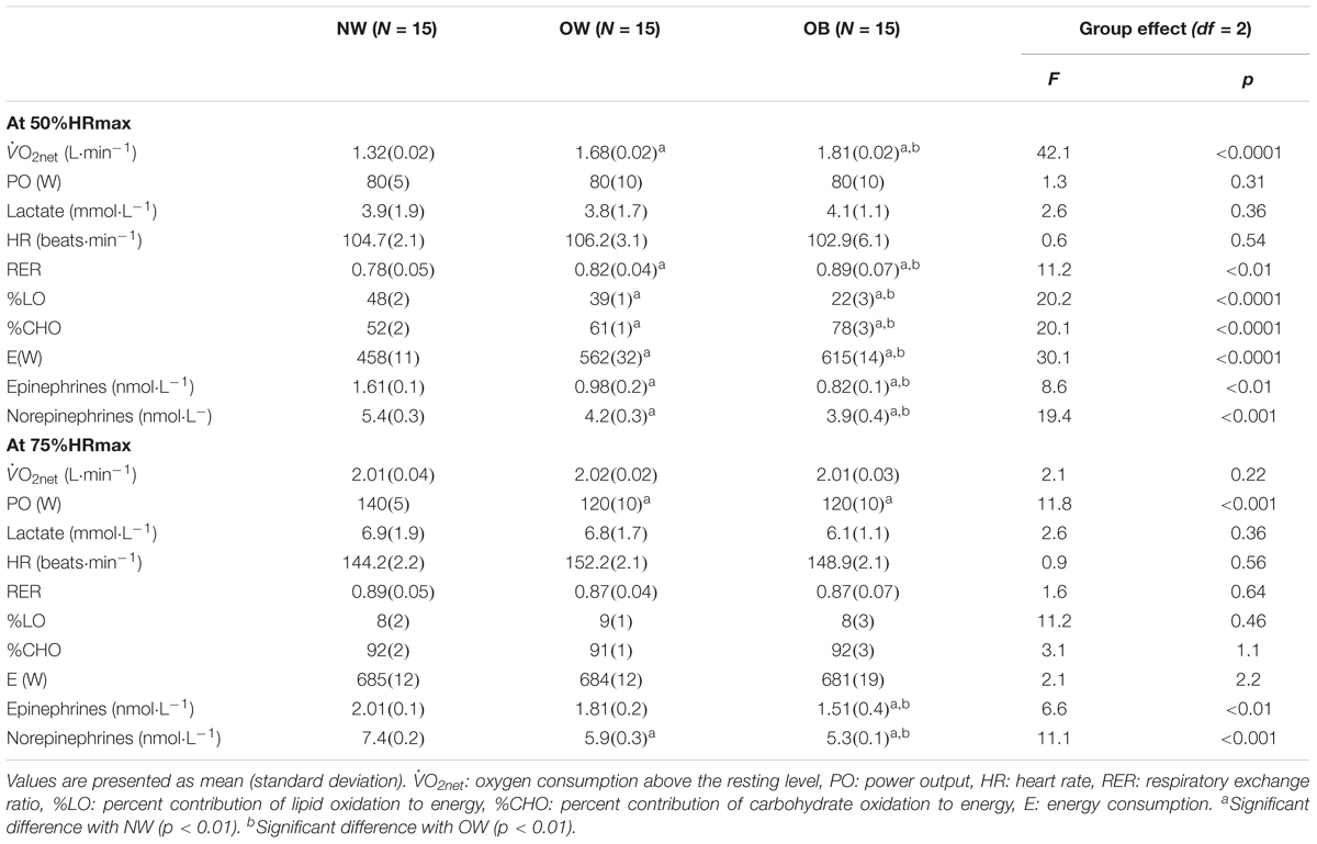Frontiers | Mechanical Efficiency at Different Exercise
