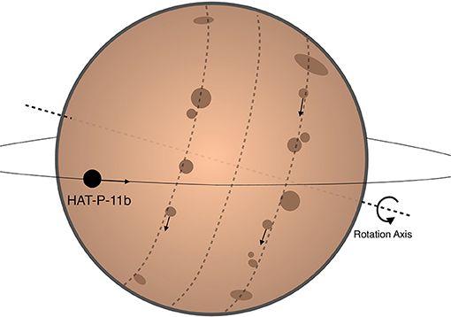 Figure 1 - This diagram shows an illustration of what the HAT-P-11 system might look like.