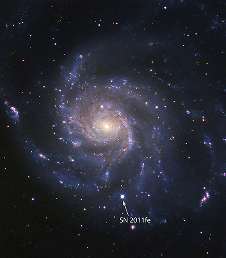Figure 2 - Supernova SN2011fe in the distant Pinwheel galaxy.