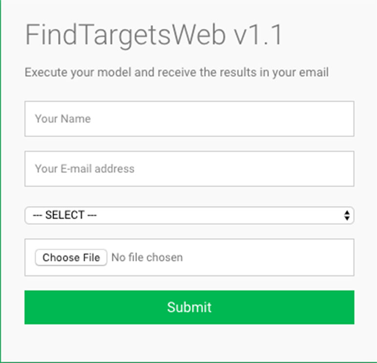 Frontiers | FindTargetsWEB: A User-Friendly Tool for