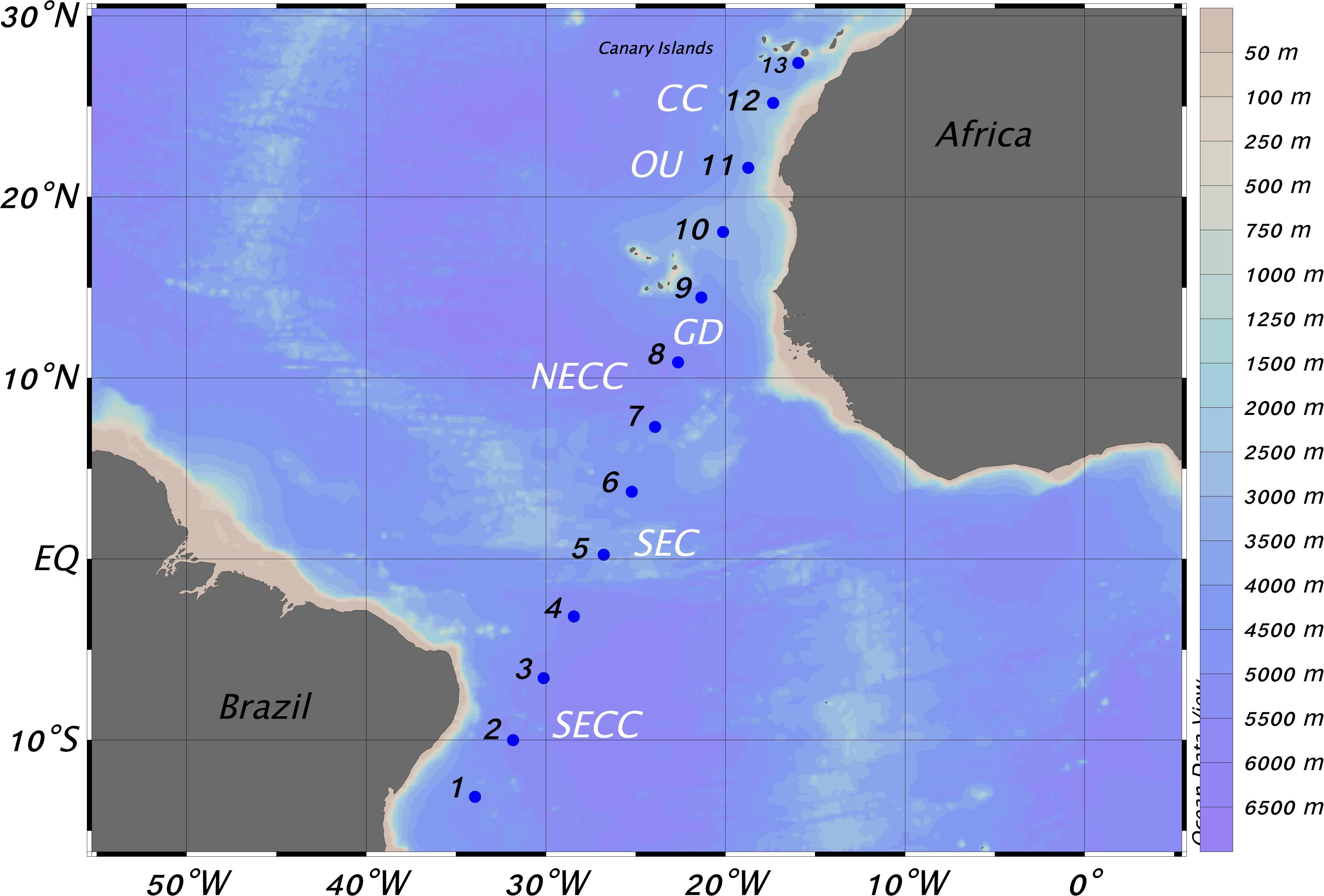 какое место занимает по площади атлантический океан