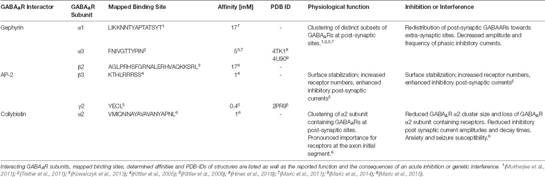 Frontiers | Targeting GABAAR-Associated Proteins: New Modulators