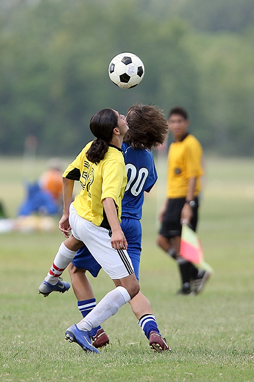 Figure 1 - A bump to the head while playing sports can cause a concussion.