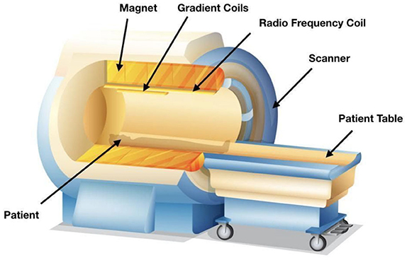 Figure 1 - Components of an MR scanner [2].