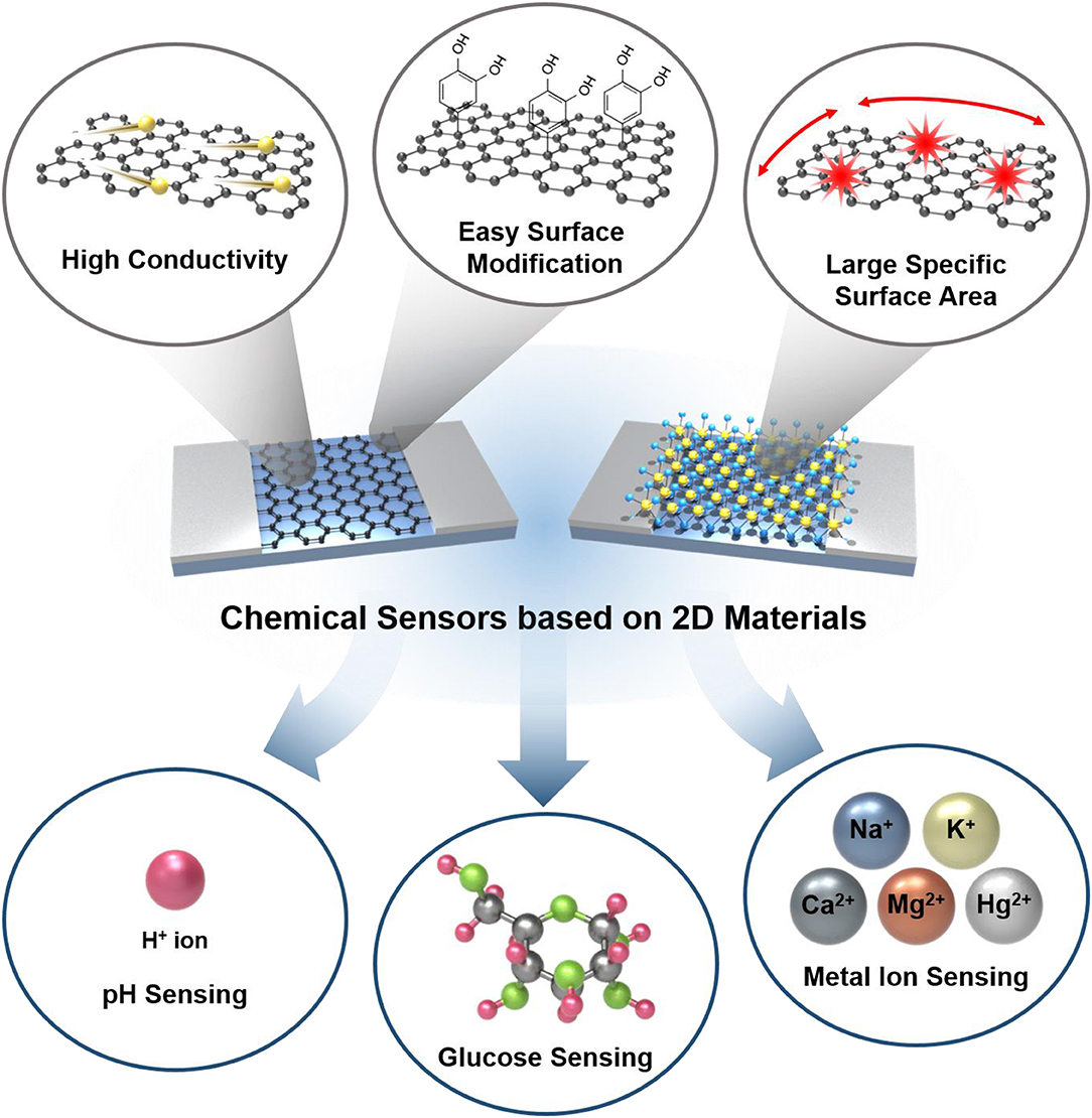 Frontiers | Chemical Sensors Based on Two-Dimensional (2D) Materials for  Selective Detection of Ions and Molecules in Liquid | Chemistry