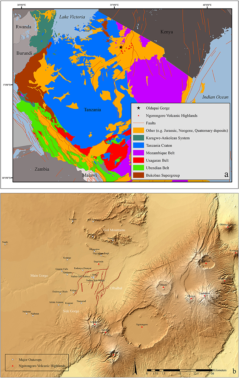 Frontiers Petrographic Characterization Of Raw Material Sources At Oldupai Gorge Tanzania Earth Science
