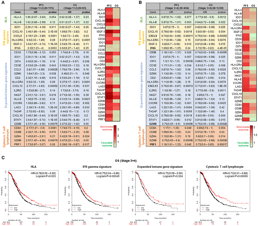 Frontiers Genomic Signatures Of Immune Activation Predict Outcome In Advanced Stages Of Ovarian Cancer And Basal Like Breast Tumors Oncology
