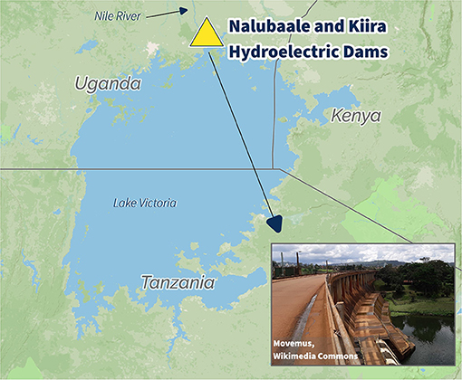 Figure 1 - Lake Victoria is the principal source of the longest branch of the Nile River.