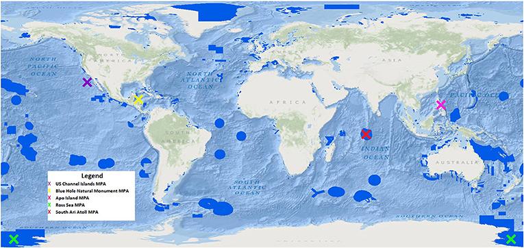 Figure 1 - Map of Global MPAs.