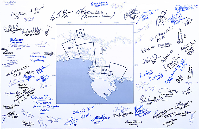 Figure 2 - A map of the Ross Sea MPA.