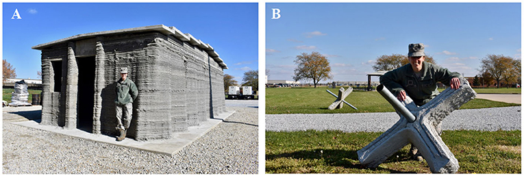 Figure 1 - Two examples of 3D-printed construction here on Earth.